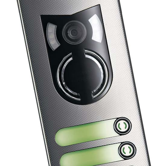 Elvox 1200 Series video door entry panel close up
